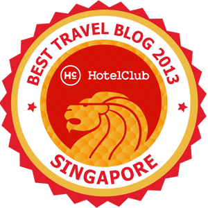 2013: HOTELCLUB Best Singapore Travel Blog