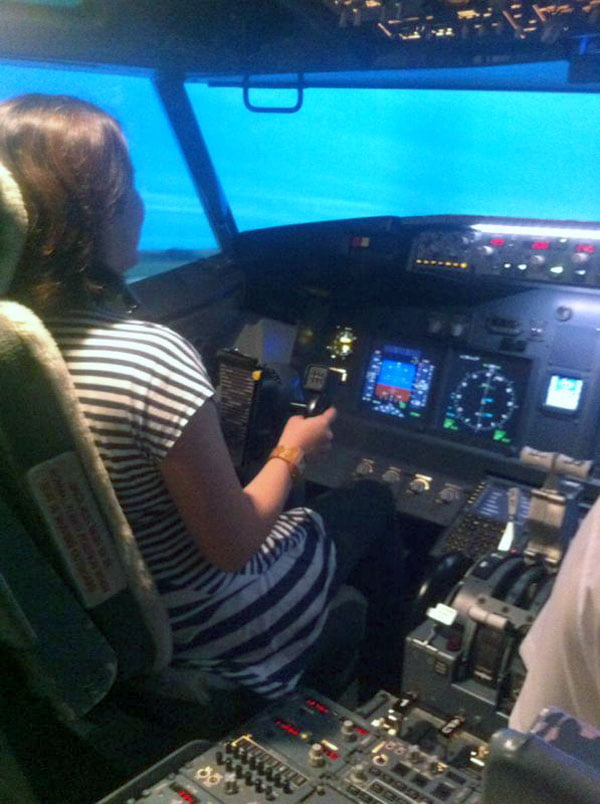 Flying the plane