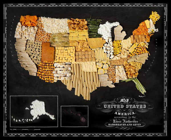 Food Maps by Henry Hargreaves and Caitlin Levin - USA