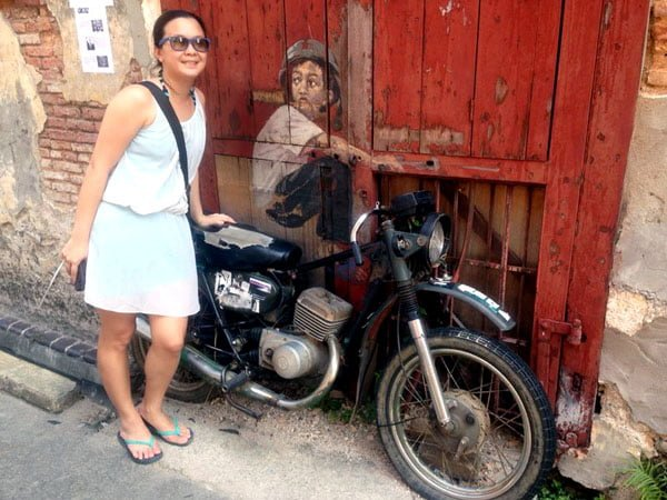 Penang Street Art - Old Motorcycle EZ