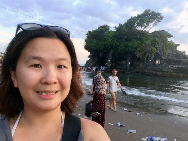 Bali Tanah Lot Selfie Beach