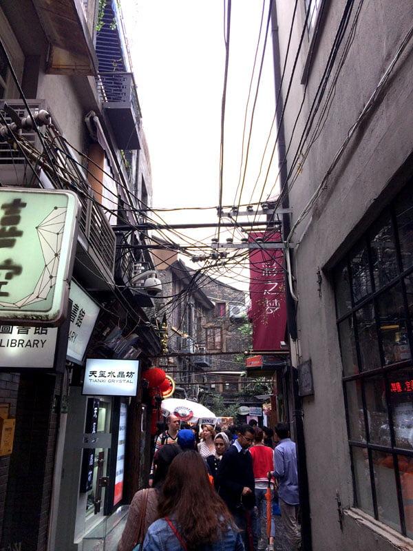 Shanghai Tianzifang Narrow Alleyway