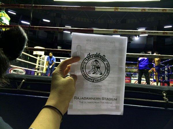 Bangkok - Rajadamnern Stadium Flyer