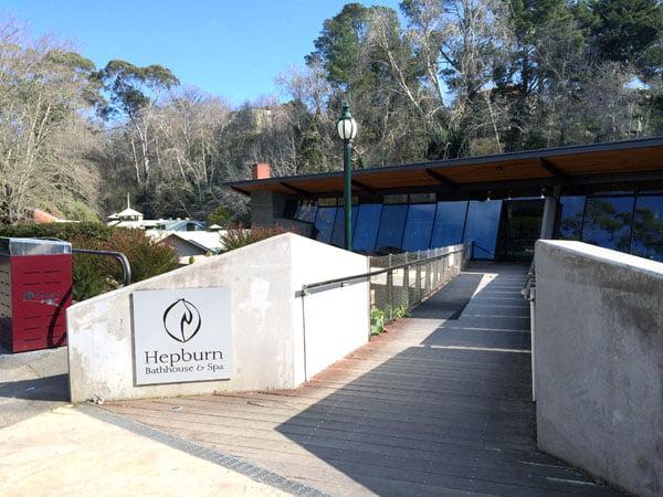 Daylesford Hepburn Bathhouse Entrance
