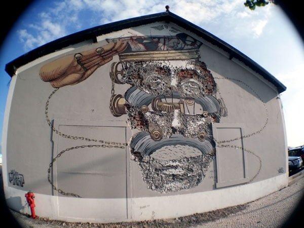 Portugal - Lisbon Street Art Vhils-Pixelpancho Face