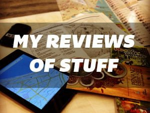 Reviews of stuff to help you travel better
