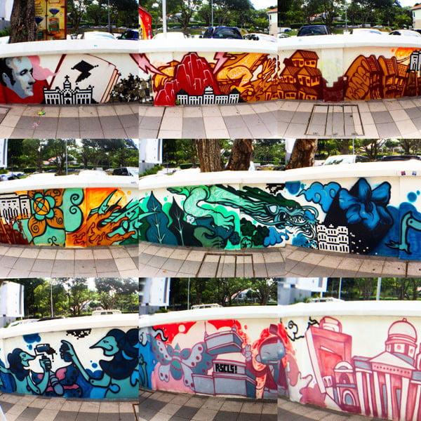 Singapore Street Art - Armenian Street RSCLS detail