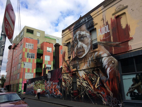 Melbourne Street Art - Fitzroy AdNate Boy