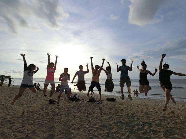 Bali Casio Kuta Beach Group Jumpshot