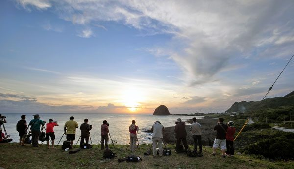 Taiwan Lanyu Tiger Head Sunset People