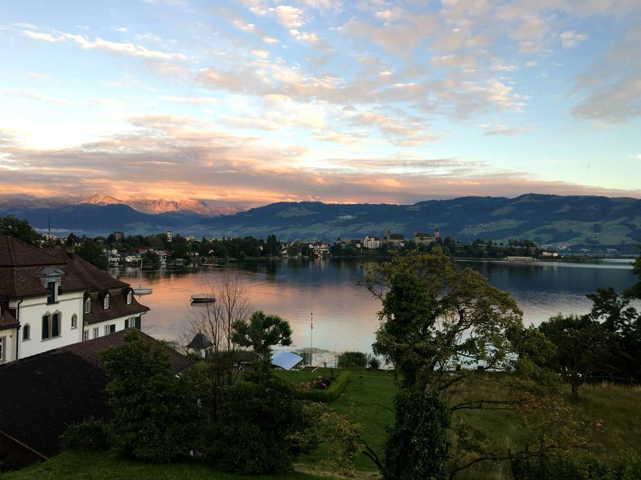 Rapperswil Zurich Lake Sunset