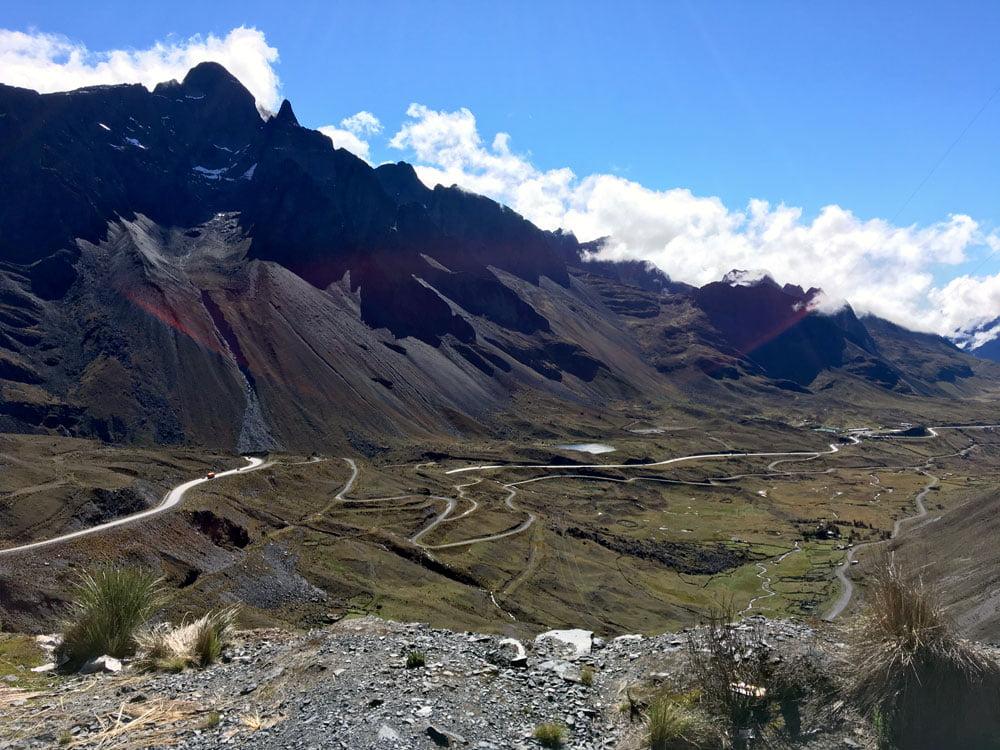 Bolivia Death Road Winding Tarmac
