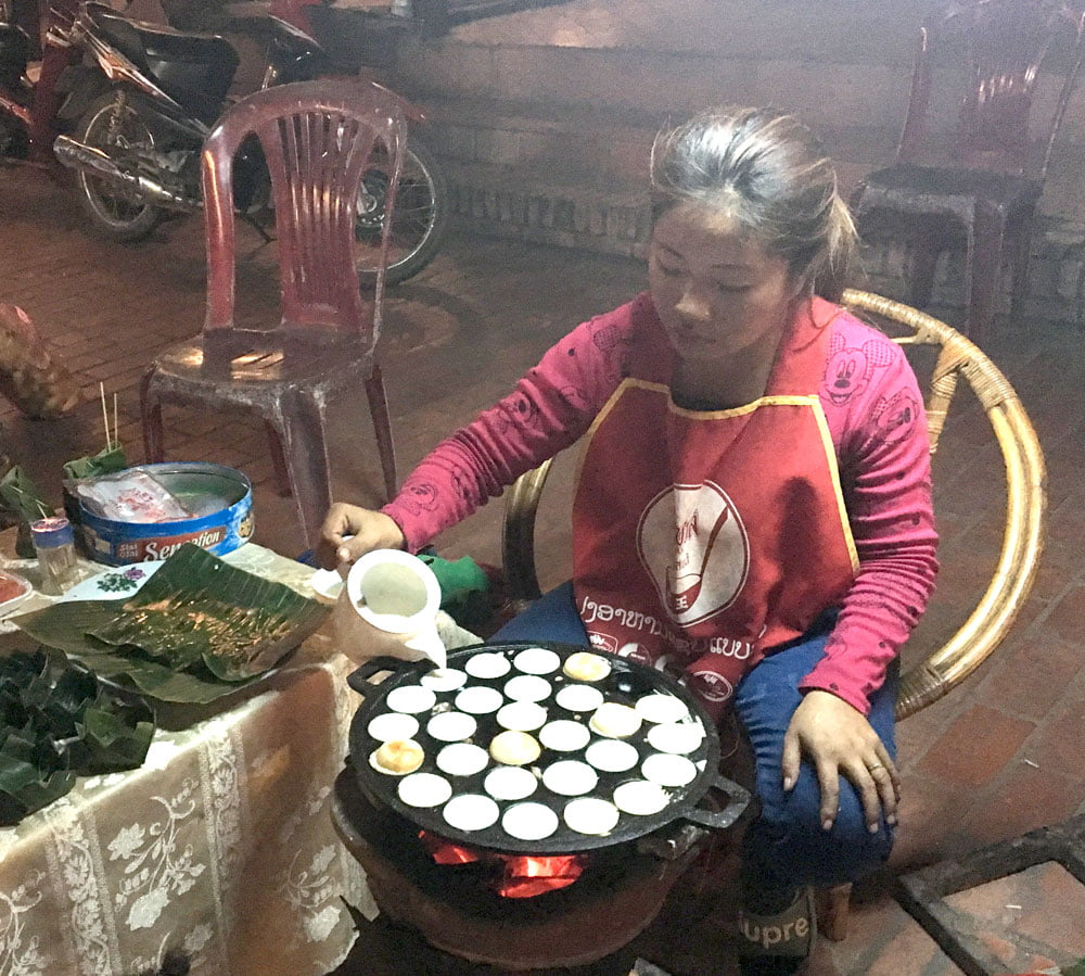 Laos Luang Prabang Night Market Food
