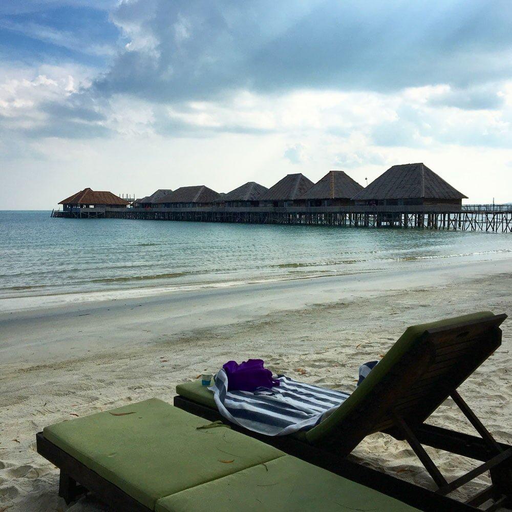 Telunas Beach Resort Deckchair View