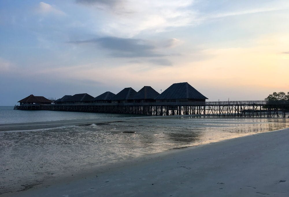 Telunas Beach Resort Sunset