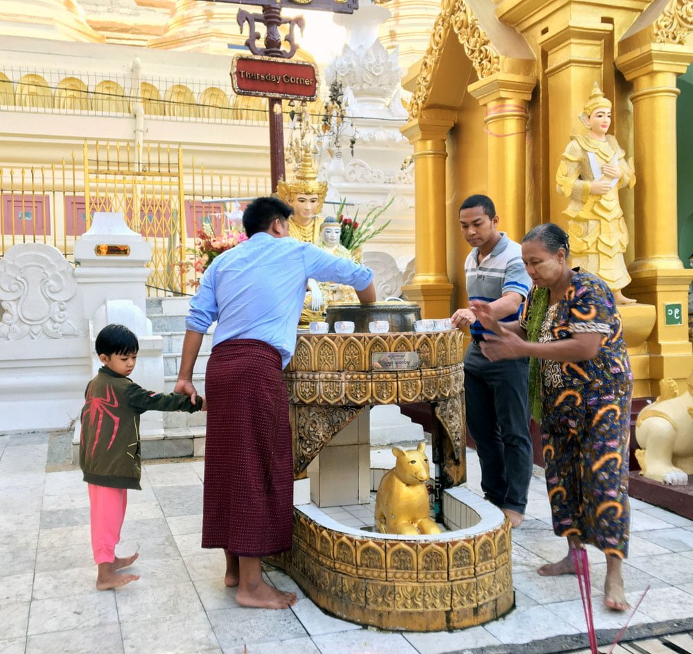 Yangon Shwedagon Pagoda Thursday