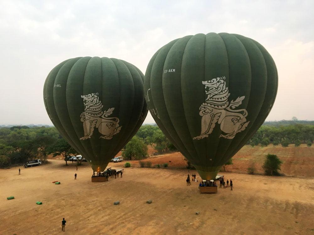 Bagan Ballooning Oriental Balloons Takeoff