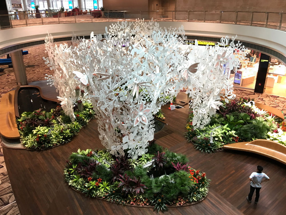 Singapore Changi Airport T4 Butterfly Sculpture