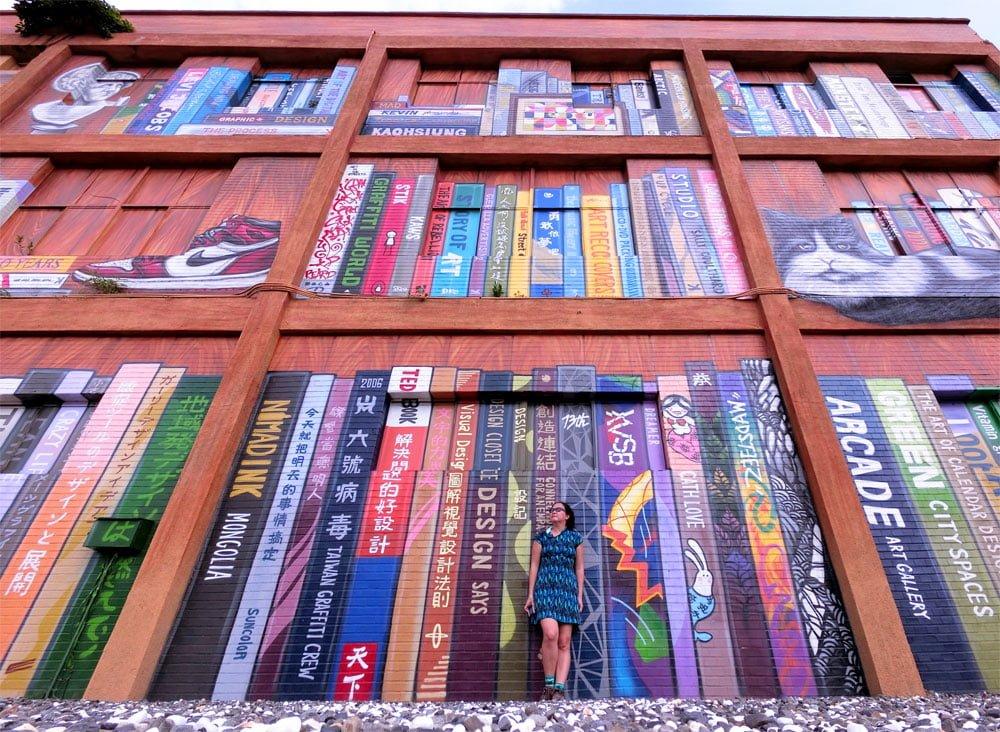 Kaohsiung Weiwuying Street Art Bookshelf Me