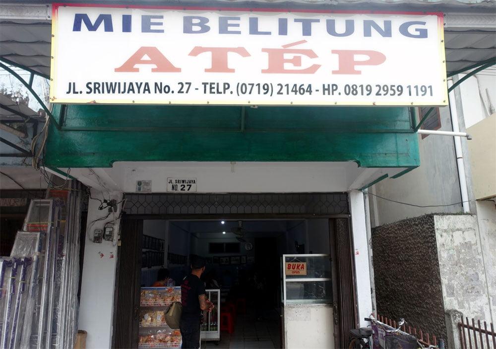 Belitung Mie Atep Shopfront