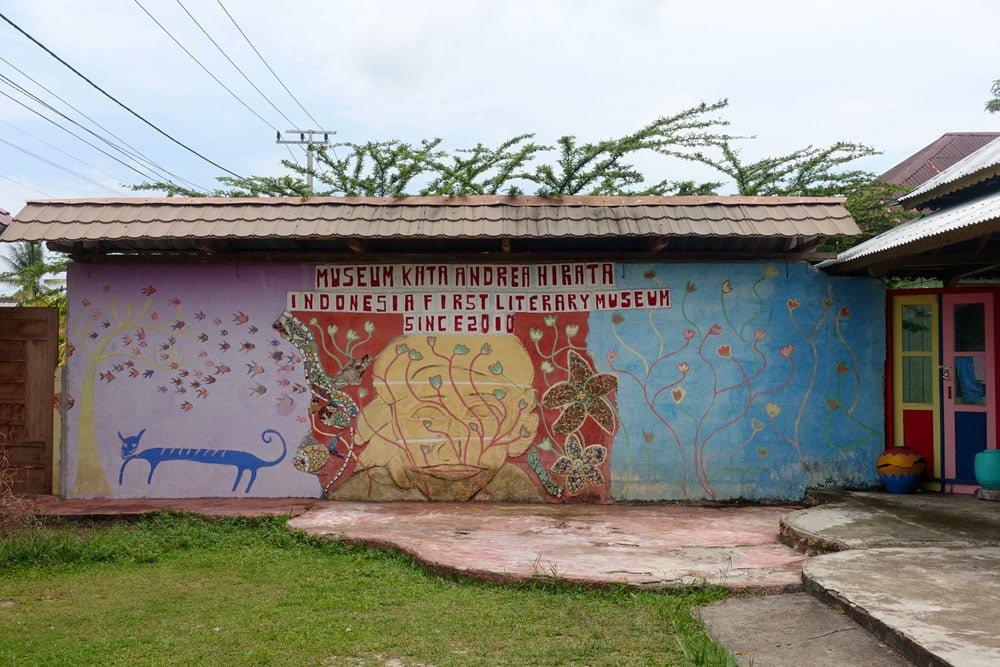 Belitung Andrea Hirata Museum Wall