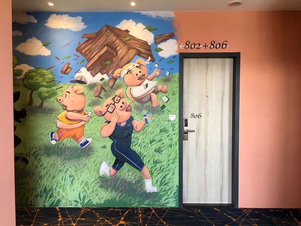 Taichung Mini Hotel Murals