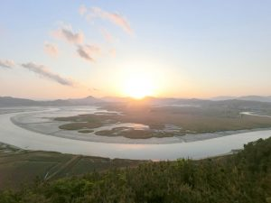Suncheon Bay Wetland Viewpoint Sunset 2