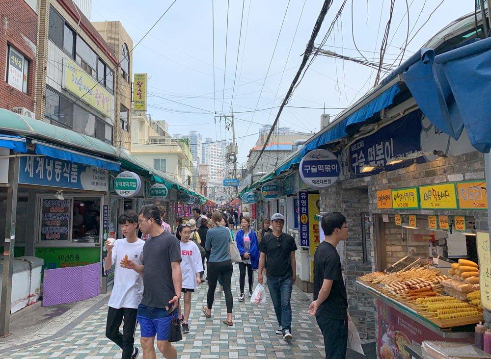 Busan Haeundae Market Street