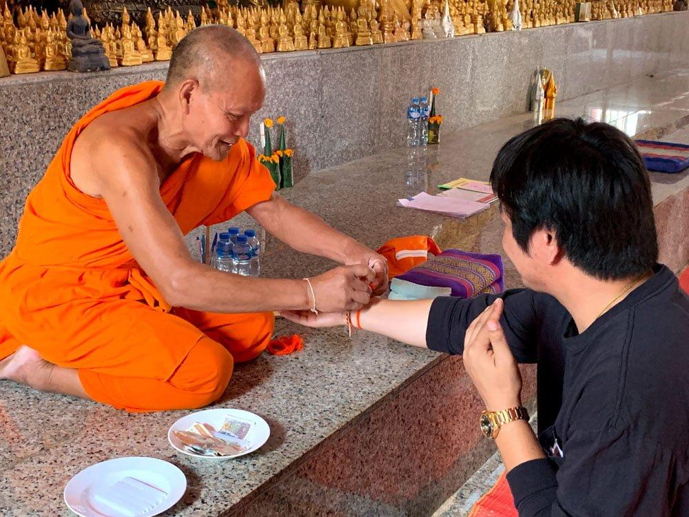 Laos Bolikhamsay Phabath Monk Baci