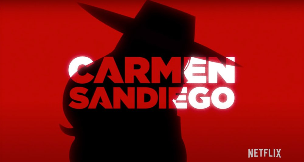 Netflix Carmen Sandiego Title Screen